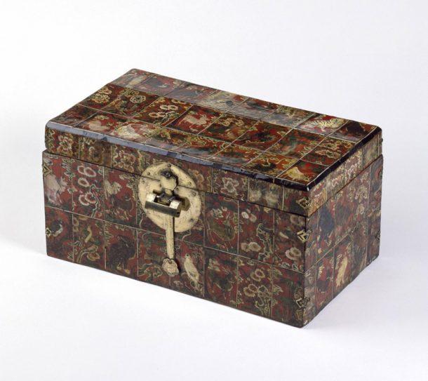 W.38-1920, Korean Hwagak box on display in Gallery 47G