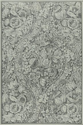 Figure 1. Detail of p.83 of The Decorator and Furnisher, Vol 16, No. 3 (June, 1890) showing the pomegranate and grapevine design