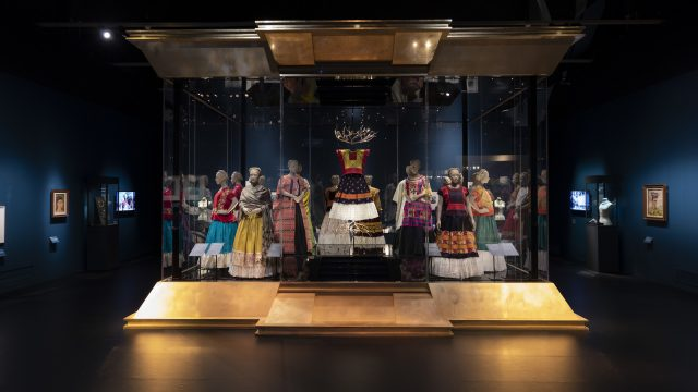 Figure 4. Costumes installed in the 'Art and Dress' Gallery