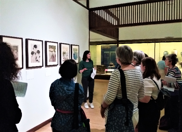 The tour concluding in the Toshiba Gallery of Japanese Art
