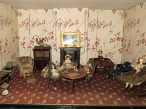 Parlour of the Killer Cabinet Dolls' House, W.15-1936 (c)V&A Museum, London