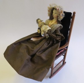 Doll from parlour of the Killer Cabinet Dolls' House, W.15-1936 (c)V&A Museum, London
