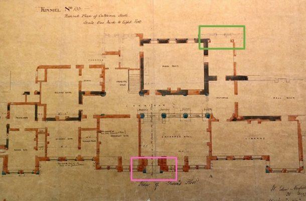 Ground floor plan for Kinmell Hall