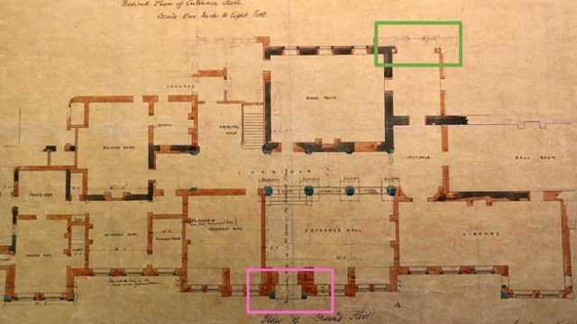 Ground floor plan for Kinmell Hall