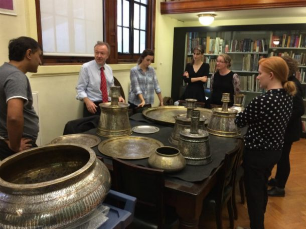 Handling session on revival metalwork from Egypt and Syria