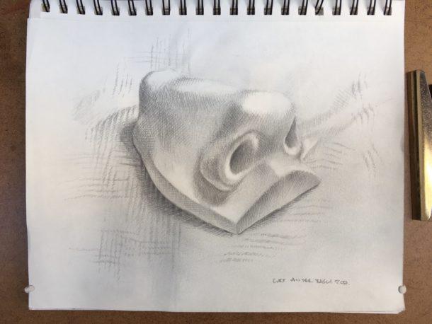 The first drawing completed. Image, Kurt van der Basch.