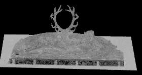 Digital model of the Nymph of Fontainebleau (Benvenuto Cellini), shown in grayscale. Image © Plowman Craven