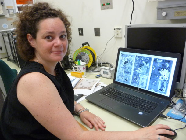 Figure 5: CRC researcher Aurelié Tournié working on her hyperspectral imaging data.