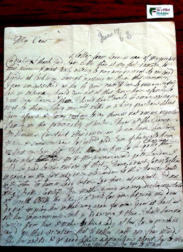 Dorothy Yorke's letter to Philip Yorke