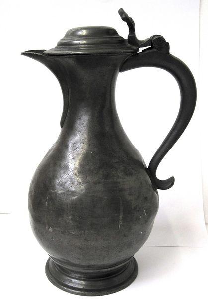 Nineteenth-century pewter beer jug