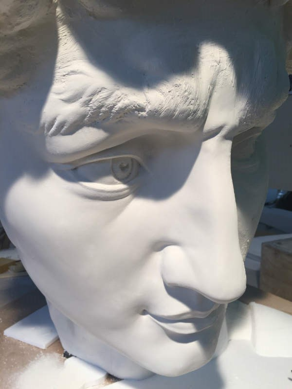 David's head almost complete. Image courtesy of the 20th Century Fox
