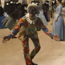 Helping to ensure life and movement in the galleries, Harlequin invites you dance, play and perform with him