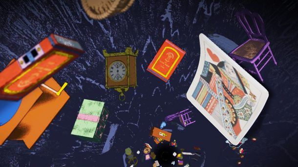 Screenshot from Curious Alice, Down the Rabbit Hole