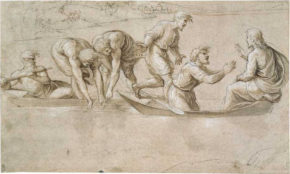 The Miraculous Draught of Fishes, drawing, Raphael, about 1515 © The Royal Collection