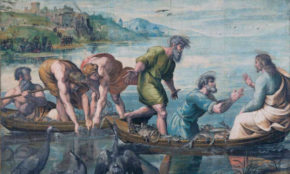 The Miraculous Draught of Fishes, cartoon, Raphael, about 1515 © The Royal Collection