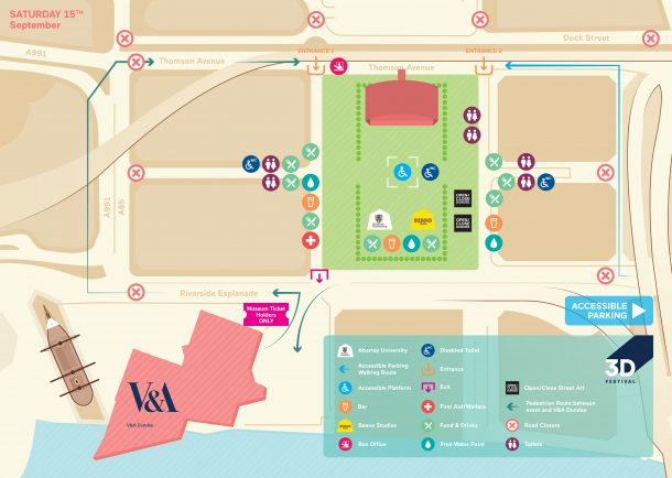 Saturday 3D Festival Map