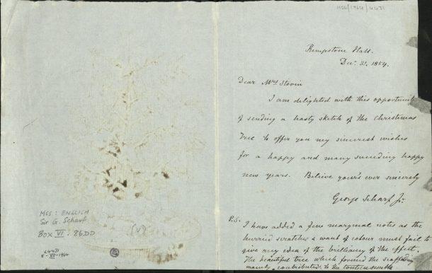 Cursive, hand-written letter.