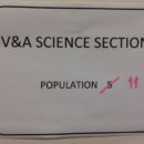 Figure 1: V&A Science Section population count – updated in March 2017.