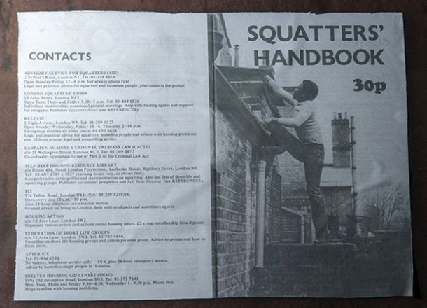 Squatters Handbook: a copy of the Squatter's Handbook