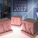 The 2017 V&A Illustration Awards trophy.