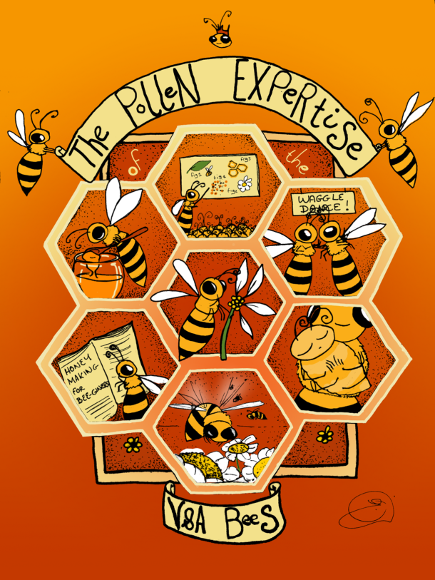 VandA Bees illustration by Eileen Budd