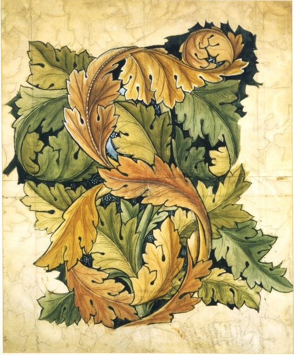 'Acanthus' design by William Morris, 1874. Museum number CIRC.297-1955