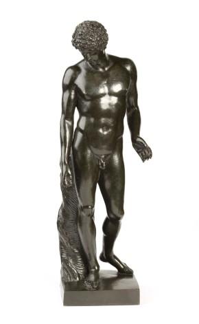 Bronze figure of Antinous