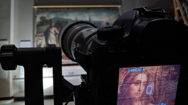 Raphael Cartoons panoramic photography project at V&A. Royal Collection Trust / © Her Majesty Queen Elizabeth II 2019. Photograph: Gabriel Scarpa for Factum Foundation © Factum Foundation
