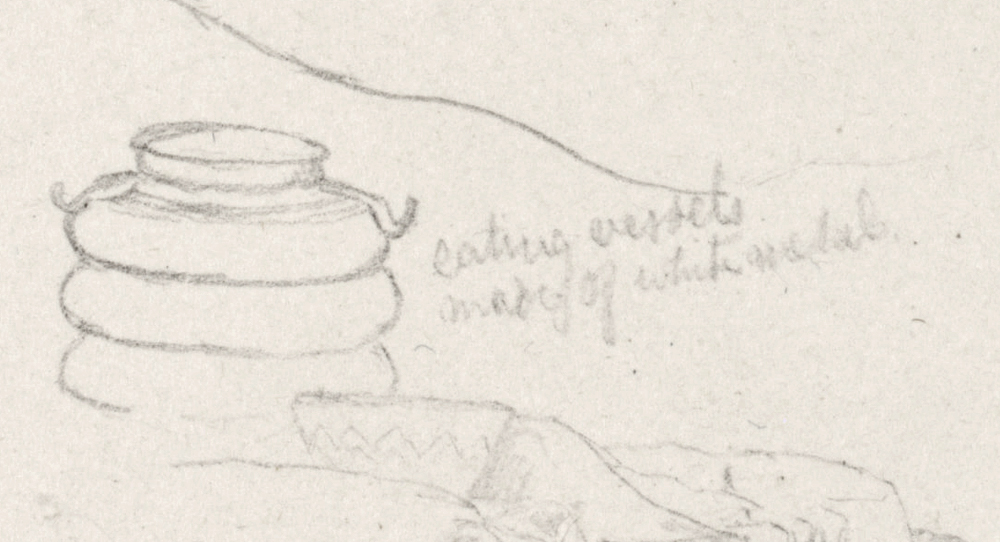 Drawing of an eating vessel