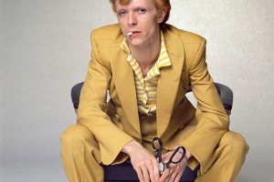 David Bowie in Yellow suit by Terry O'Neill