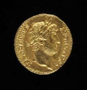 Aureus coin of Emperor Hadrian