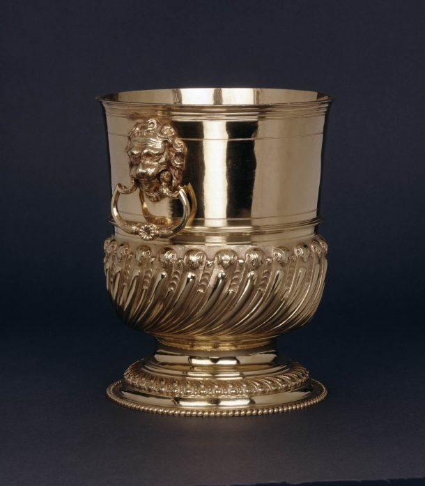 A golden ice bucket from the British Museum