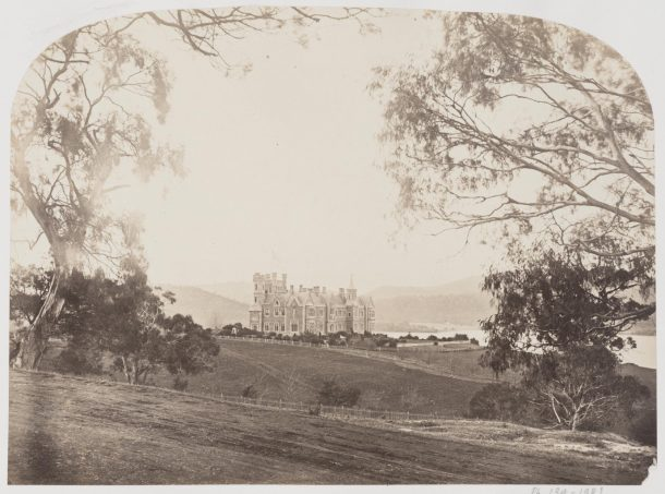 Photograph of Government House, Hobart Town. Taken about 1865 by Samuel Clifford, Museum number PH.134-1981 © Victoria and Albert Museum