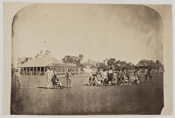 Photograph of Mr Meid's sheep station in South Australia. Taken about 1865 by an unknown photographer, Museum number PH.162-1981 © Victoria and Albert Museum