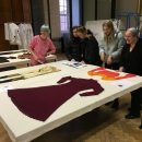 Tutors and students from Nottingham Trent University at the Clothworkers' Centre
