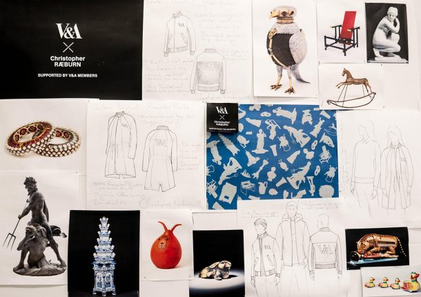 Christopher Raeburn's moodboard for the new V&A staff uniforms