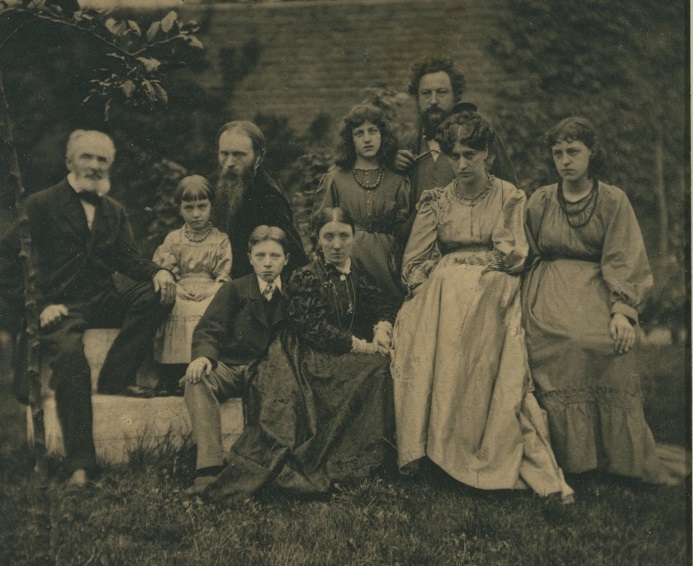 The Morris and Burne Jones families, about 1880. May is standing on her father's right. Museum number PH.1813-1939