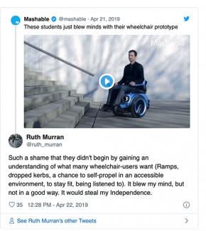 Screen grab from Liz Jackson's Medium piece 'A community response to a #DisabilityDongle'