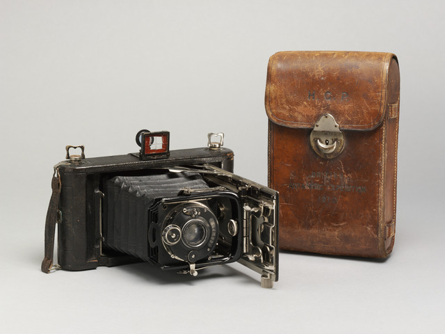 Image of a camera and case