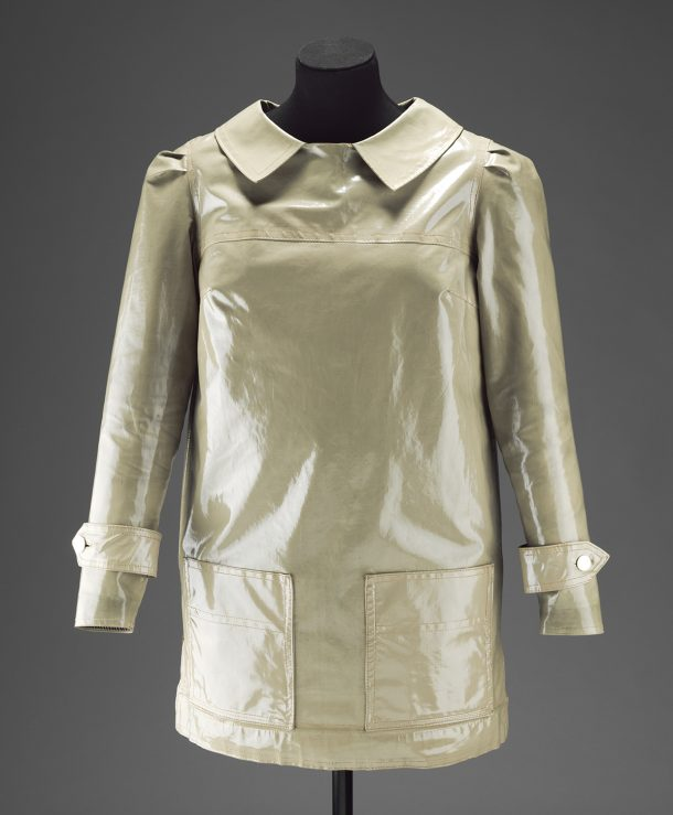 PVC raincoat, Mary Quant, 1964, UK. Museum no. T.3-2013. © Victoria and Albert Museum, London.