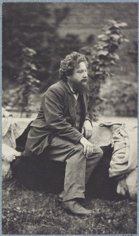 William Morris, photographed by Frederick Hollyer in 1874. Museum number 7714-1938