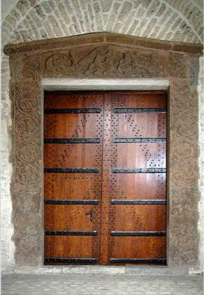 The lintel in situ today. © Collegiate Church of St. Gertrude, 2107