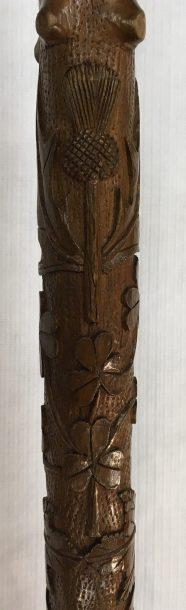 Carved thistle and shamrocks