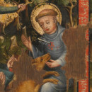 Detail of 5940-1859, altarpiece, showing St. Giles © Victoria and Albert Museum, London