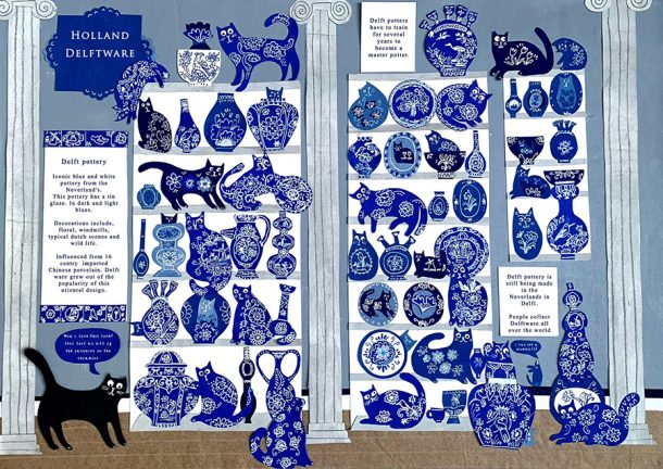 'The Catmolean Museum', illustration by Laura Winstone