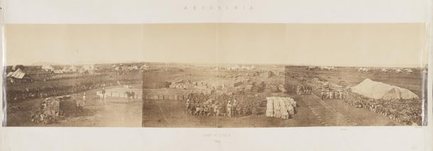 'Camp at Zoola', photograph by the Royal Engineers, Zula, Ethiopia, 1868. Museum no. 71906. © Victoria and Albert Museum, London