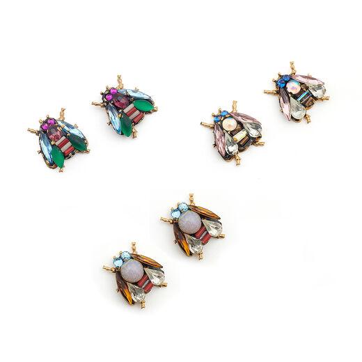 Stud bee earrings by Annie Sherburne - assorted