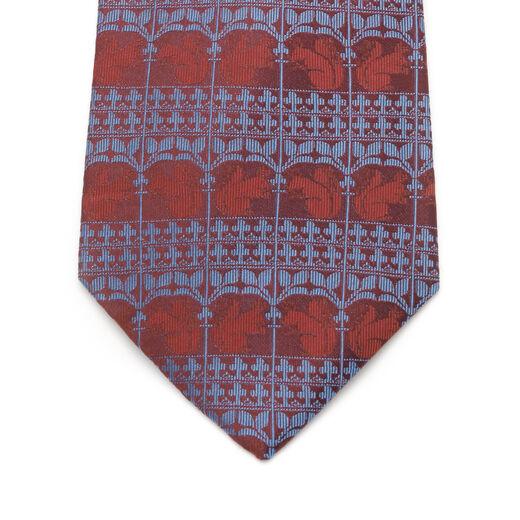William Burges frieze red silk tie