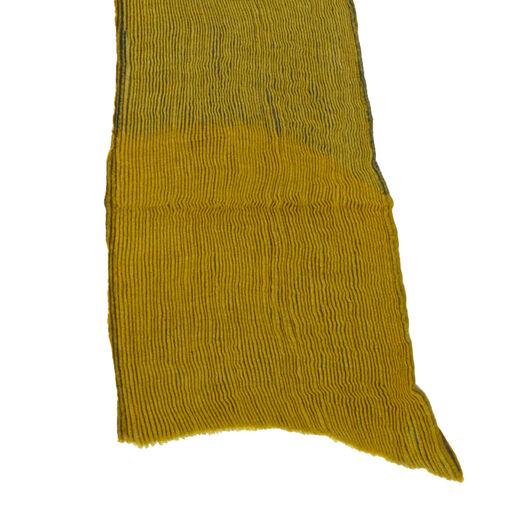 Yellow shibori scarf