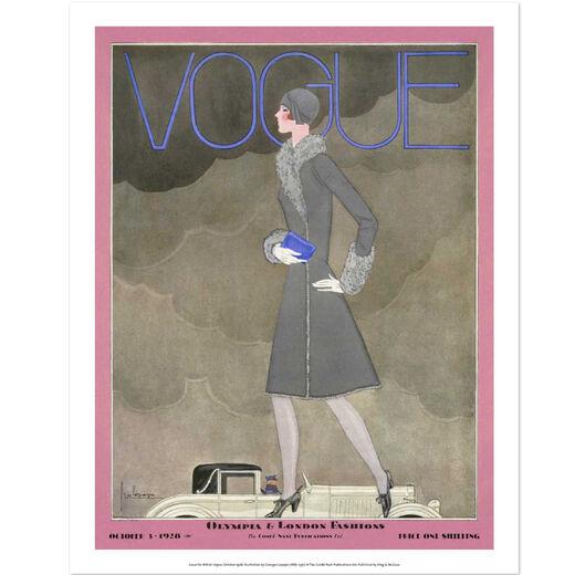 London fashion Vogue print